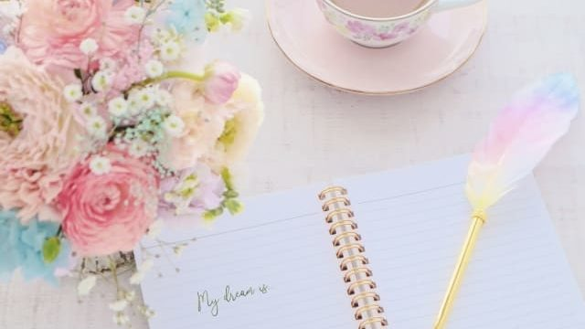 夢ノートと花